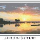 Sunset on the Sea of Galilee Pattern Chart Graph