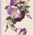 Purple Morning Glories by Catherine Klein Pattern Chart Graph