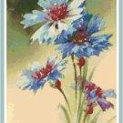 Blue Cornflowers by Catherine Klein Pattern Chart Graph