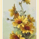Deep Yellow Daisies by Catherine Klein Pattern Chart Graph