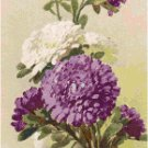White and Purple Mums by Catherine Klein Pattern Chart Graph