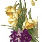 Daffodils and Violets by Catherine Klein Pattern Chart Graph