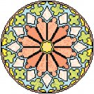 Daisy Mandala Pattern Chart Graph