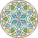 Diamonds and Triangles Mandala Pattern Chart Graph
