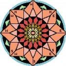 Compass Mandala Pattern Chart Graph