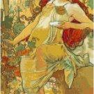 Fruitfull Autumn by Alphonse Mucha Pattern Chart Pattern