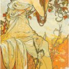 Sultry Summer by Alphonse Mucha Pattern Chart Graph