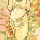 The Rose by Alphonse Mucha Pattern Chart Graph