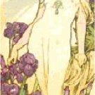 The Iris by Alphonse Mucha Pattern Chart Graph