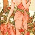 The Carnation by Alphonse Mucha Pattern Chart Graph