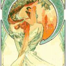 Poetry by Alphonse Mucha Pattern Chart Graph