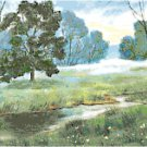 Morning Mist by the Brook Cross Stitch Pattern Chart Graph
