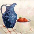 Graniteware with Strawberries Cross Stitch Pattern Chart Graph
