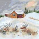 More Snow Coming Cross Stitch Pattern Chart Graph