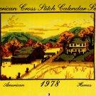 American Homes American Cross Stitch Calendar Series Spiral Bound