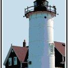 Nobska Point Lighthouse Cross Stitch Pattern Chart Graph