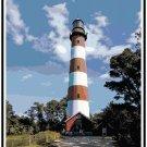 Assateague Lighthouse, VA Cross Stitch Pattern Chart Graph