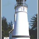 Umpqua Lighthouse, OR Cross Stitch Pattern Chart Graph