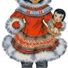 Eskimo Doll of the World Cross Stitch Pattern Chart Graph
