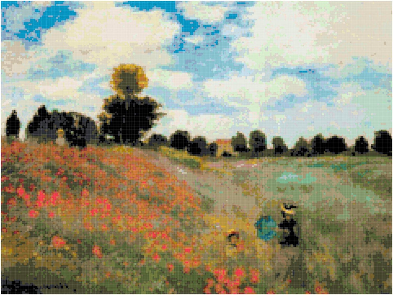 The Poppy Field by Monet Pattern Chart Graph