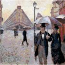 Paris - A Rainy Day by Gustave Caillebotte Pattern Chart Graph