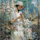 Lady with a Basket by Abbott Fuller Graves Pattern Chart Graph