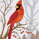 Winter Cardinal by Kate Robards Pattern Chart Graph