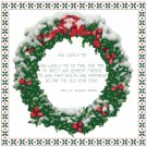 Snowy Christmas Wreath Patter Chart Graph