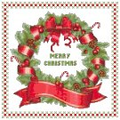 Merry Christmas Wreath Pattern Chart Graph