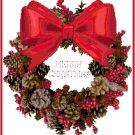 Berry and Pinecones Wreath Pattern Chart Graph