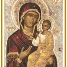 Theotokos with the Christ Child Pattern Chart Graph