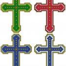 Four Cross Color Variations Symbols Pattern Chart Graph