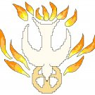 Holy Spirit with Fire Symbol Pattern Chart Graph