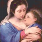 Jesus in His Mother's Arms Pattern Chart Graph