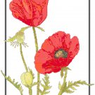 Red Poppies Pattern Chart Graph