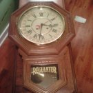 Wall Regulator Clock with Calendar