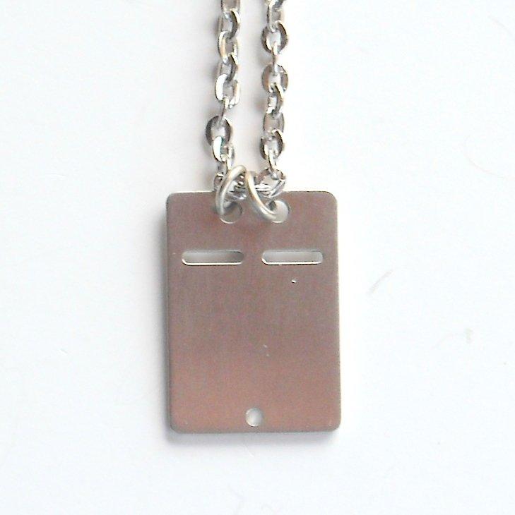 Vintage Danish Jorgen Jensen Pewter Dog ID Tag Design Necklace