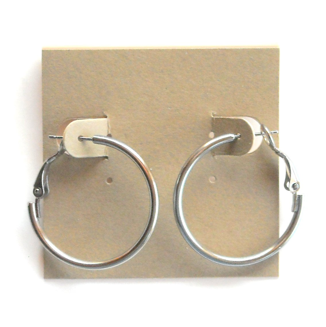 Round Loop French Lock Silver color Alloy Fashion Earrings