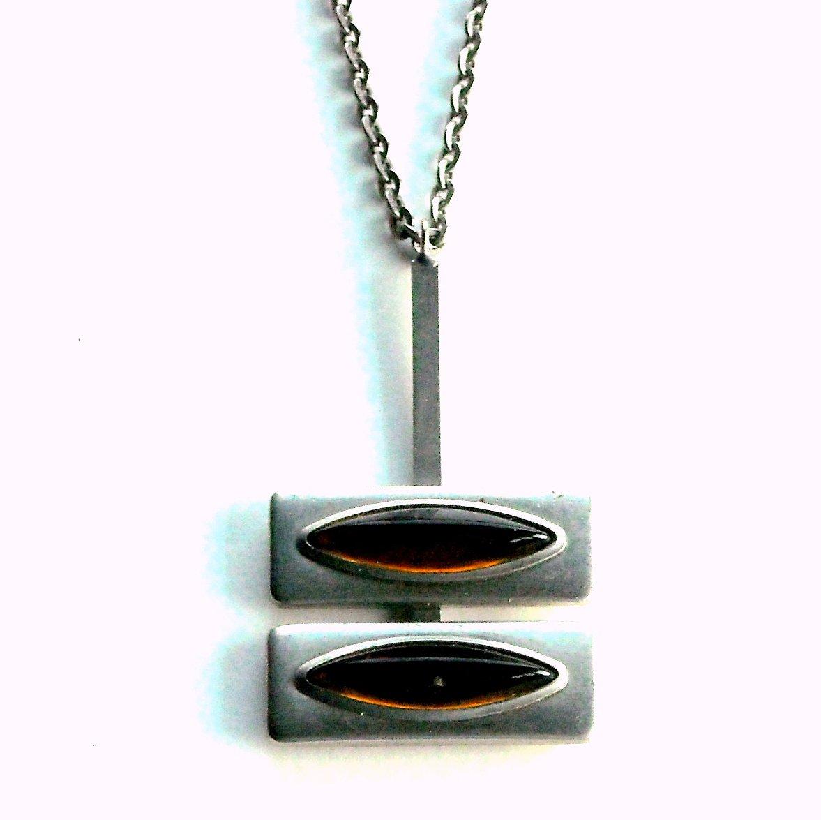 Jorgen Jensen Sterling Pewter Vintage Danish Design Necklace