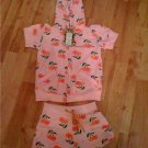 Juicy girls pink cherry short suit age 4-6 years