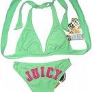 Apple Green and Pink Velour Juicy Bikini Size Large