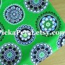 "Cupc*kes Green Main Cotton fabric 1 Yd x 57"""