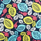 H*ppy Snail lining Cotton Fabric 1/2 YD