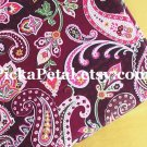 Piccad*lly Plum main Cotton Fabric 1 yd x 57""
