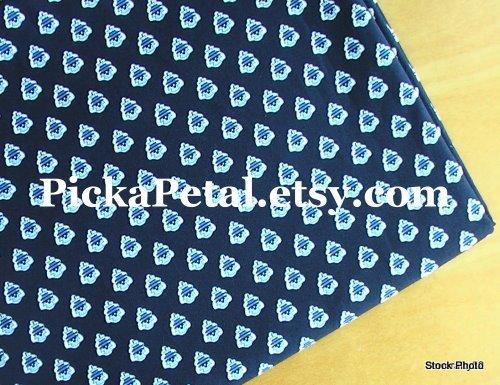"Hantucket N*vy main Cotton Fabric 1 yd x 57"""