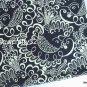 "Twirly B*rds Navy main Cotton Fabric 1 yd x 57"""