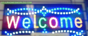 welcome LED SIGN CELLPHONE MOBILE SHOP SIGN FLASHING
