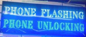 PHONE FLASHING&UNLOCKING LED CELLPHONE  SHOP SIGN