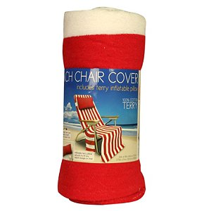 BEACH CHAIR TOWEL TERRY COTTON TOTE PILLOW