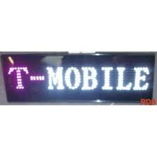 T MOBILE LED SIGN CELLPHONE MOBILE SHOP SIGN FLASHING